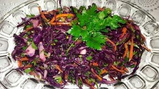🏵Qırmızı kələm salatı(mayonezsiz, çox dadlı)💗Салат красной капусты(без майонеза, очень вкусный)☘
