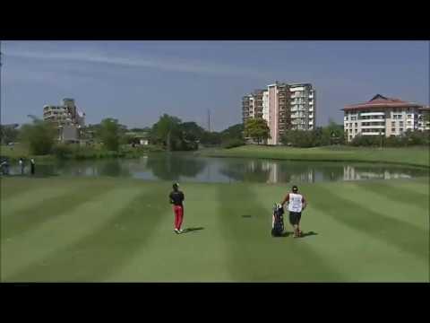 2017 Leopalace21 Myanmar Open Rd 4 Carlos Pigem approach on 11