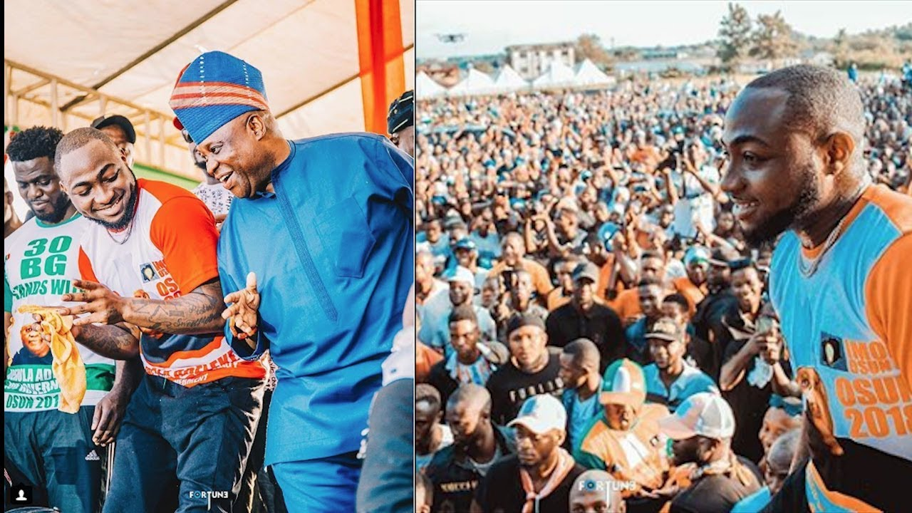 Davido Performs At PDP Rally  For Ademola Adeleke gives Assurance In Ire, Osun State