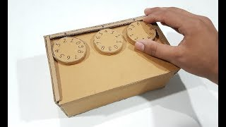 How to make Safe Locker with Combination Lock with Cardboard