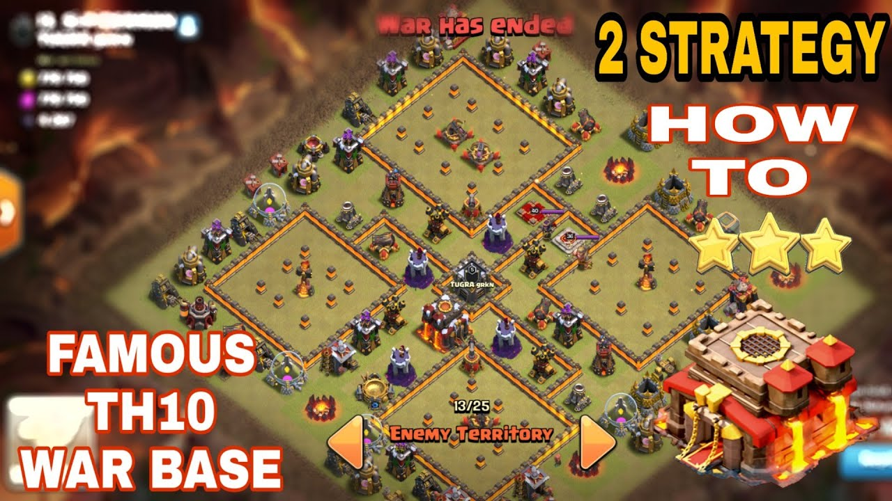 Base Coc Th 10 War 2019 2