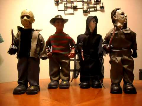 Gemmy animated Jason Voorhees, Freddy Krueger, Ghostface, Michael Myers