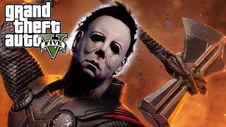 GTA 5 Mod - Michael Myers Mượn Sức Mạnh Của Thần Sấm Thor | Big Ban...