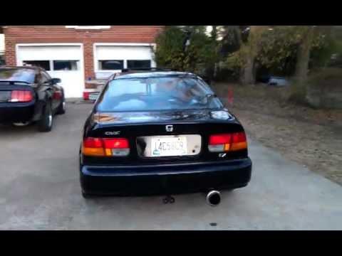1997 Honda Civic 1.6VTEC Magnaflow Exhaust - YouTube