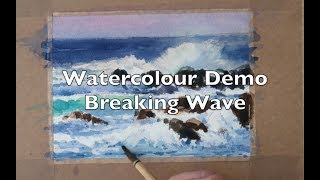 Watercolour demo How to paint breaking waves