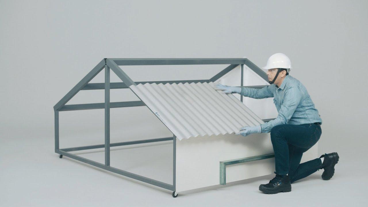 C mo instalar un techo con l mina ternium zintro alum en 5 - Laminas para pared ...