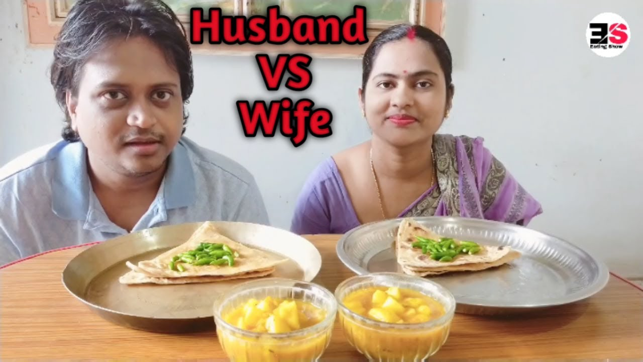 Eating challenge Husband VS Wife green chillies। Eating Show