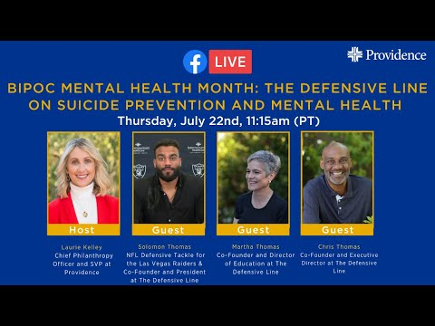 BIPOC Mental Health Month: The Defensive Line on Suicide Prevention and Mental Health