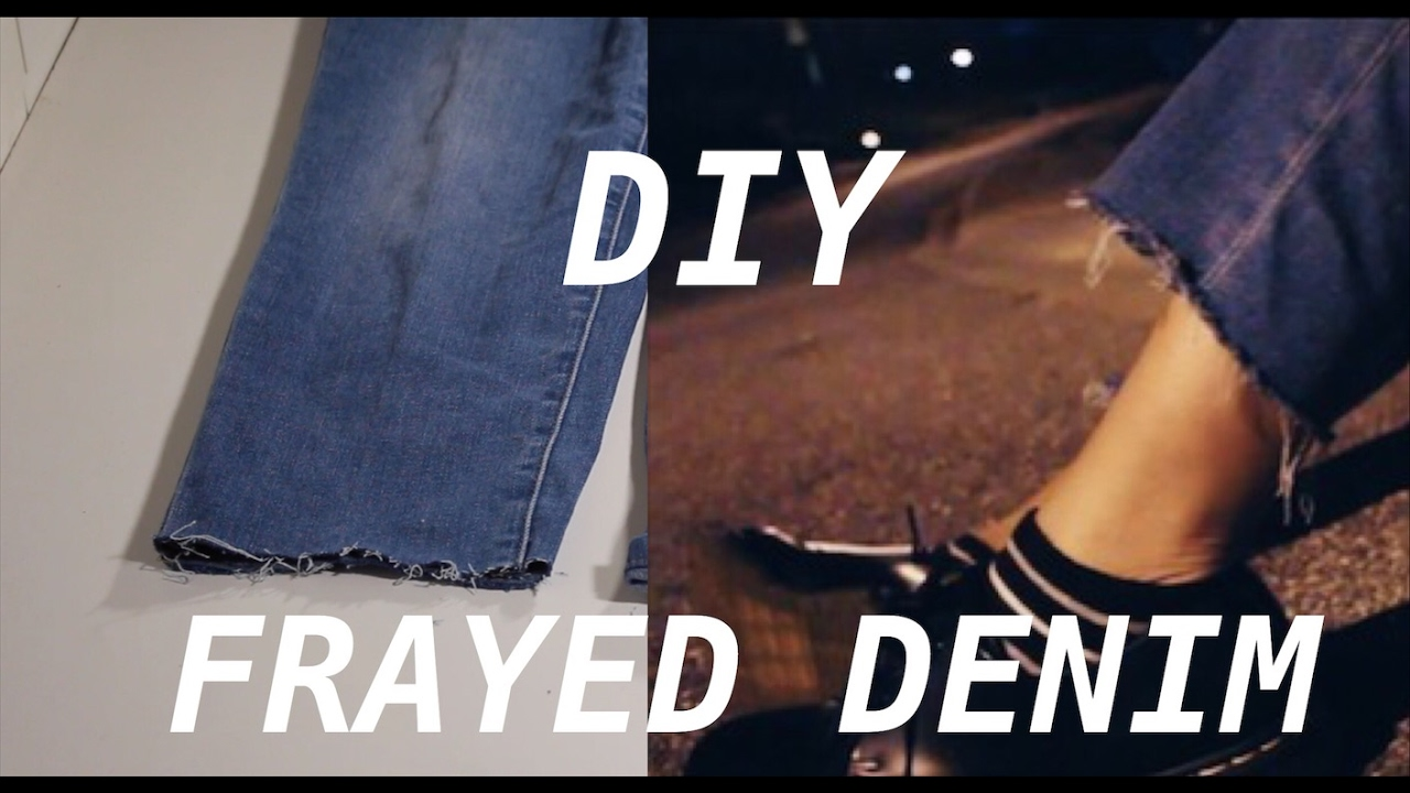dac9626bd225 DIY: Ankle Cut Jeans in 5 minutes (Cropped Jeans Tutorial) - YouTube