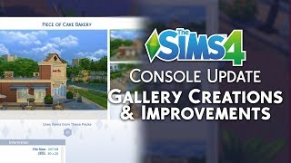 The Sims 4 Console: Gallery Creations & Improvements! (July 19th, 2018 Update Overview)