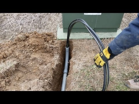 DIY Pulling Buriable Electrical through PVC