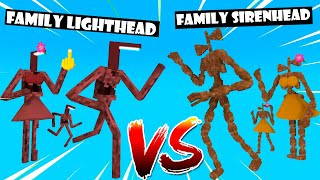 FAMILY vs FAMILY LIGHTHEAD vs SIRENHEAD