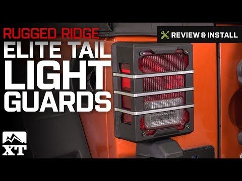 Jeep Wrangler Rugged Ridge Elite Tail Light Guards (2007-2017 JK) Review & Install