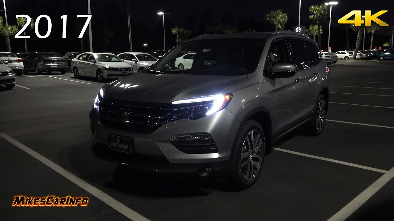 AT NIGHT: 2017 Honda Pilot Touring  Interior and Exterior Lighting in 4K  YouTube