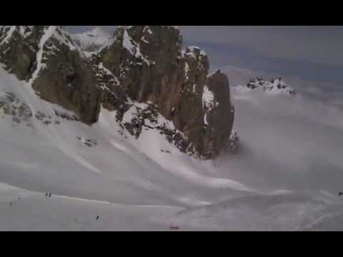 Marmolada skiing in the dolomites