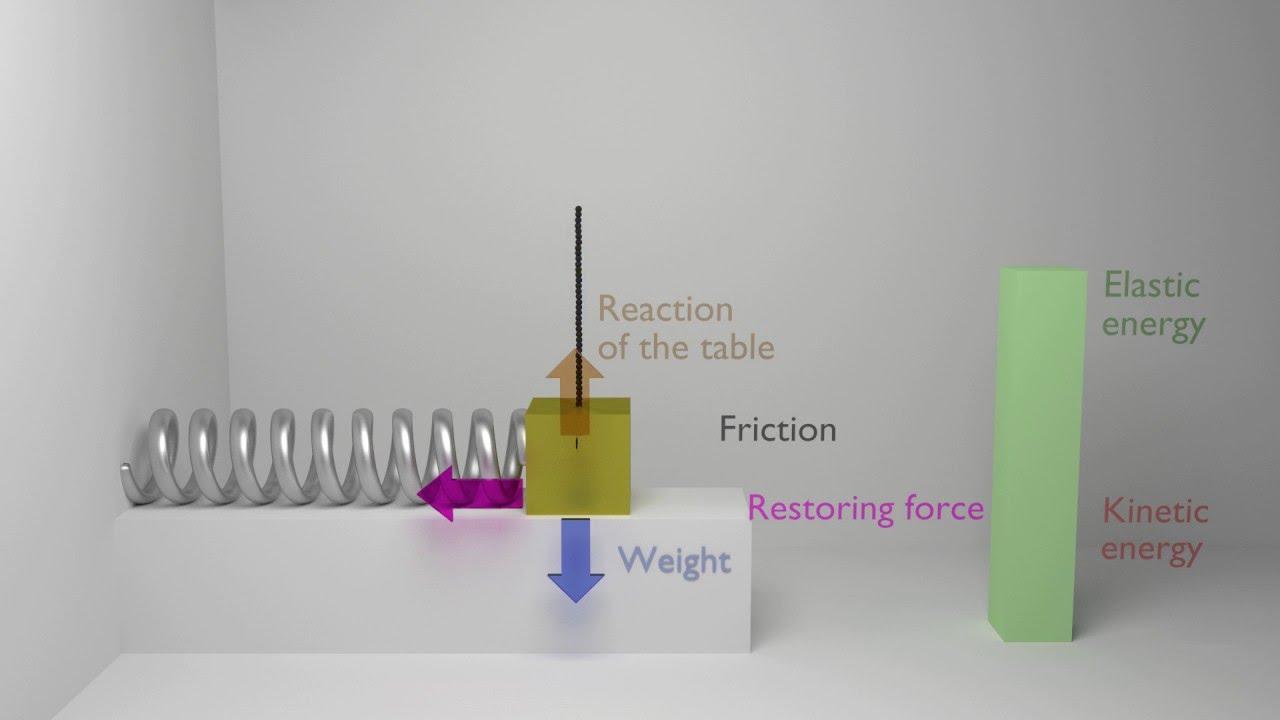 Animation Of A Damped Harmonic Oscillator  Physics  Mechanics