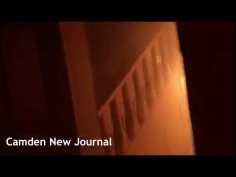 Camden New Journal: Film taken inside Daleham Gardens fire building