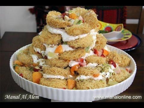 برج الكنافة علي طريقة منال - مطبخ منال العالم
