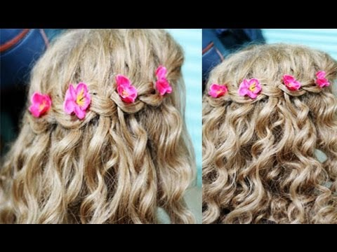 Easy Step by Step Waterfall Braid Tutorial Curly Hair Version