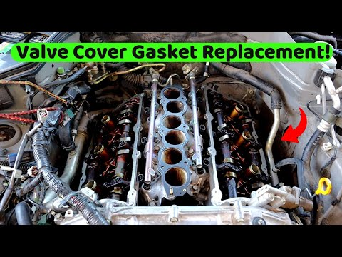 Nissan 350z & Infiniti G35 Valve Cover Gasket Replacement! VQ35DE RWD Engine