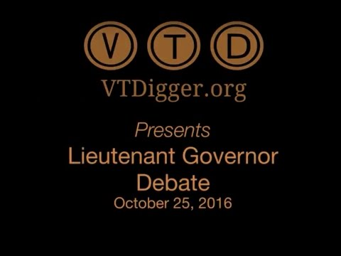 VT Digger Presents Lieutenant Governor Debate - October 25, 2016
