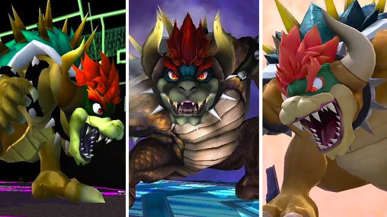Evolution Of Giga Bowser Super Smash Bros Melee To Ultimate Youtube