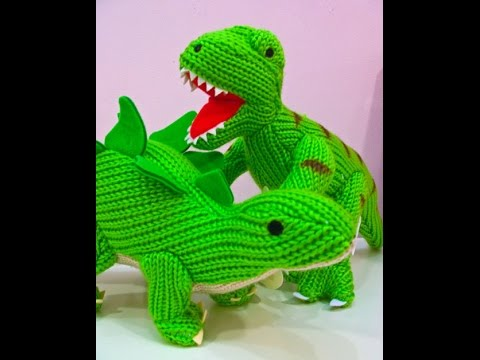 Knitted Dinosaurs Toys, Dinosaurs Cute Animals Toy, Dinosaurs For Kids