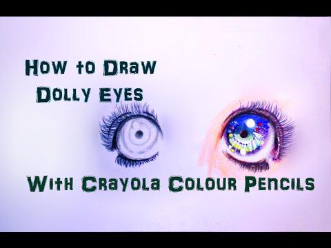 anime doll eyes crayola color pencil tutorial youtube