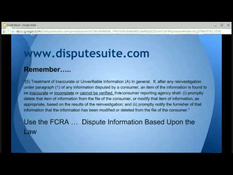8/20/14 Weekly Webinar: Factual Dispute Methodology - Part 2