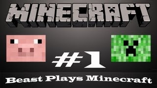 Beast Plays Minecraft #1 - Trying To Find A Home With Sneaky Sheep