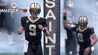 Madden 18 Saints vs Bears Gameplay Full Game (Mercedes-Benz Superdome) 2017 Video