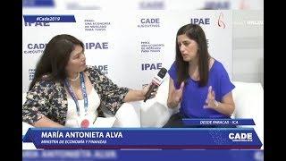 CADE 2019: Andina entrevista a María Alva, ministra de Economía