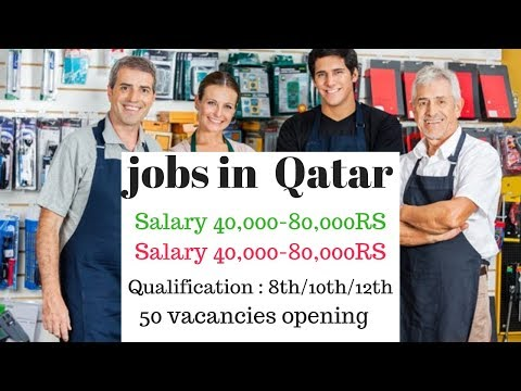 50 urgent vacancies required // jobs in Qatar Doha // Salary 40,000-80,000RS