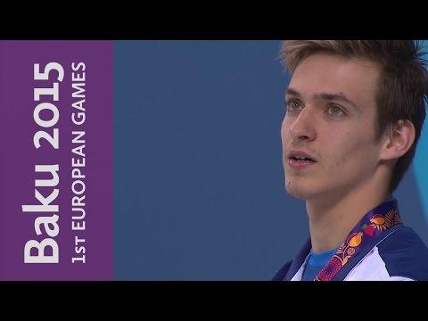 Israel's Kalontarov wins Men's 50m Freestyle | Swimming | Baku 2015 European Games