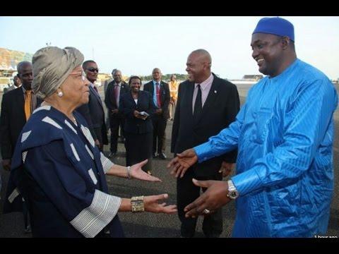 President Adama Barrow Meets The Gambians In Liberia