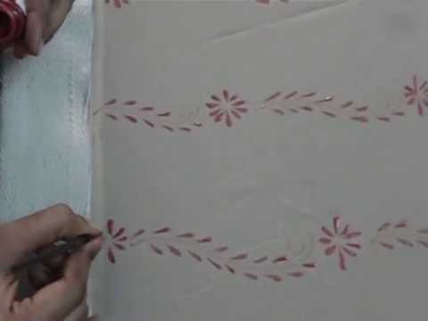 Free Hand Fabric Painting Saree Half Border Work