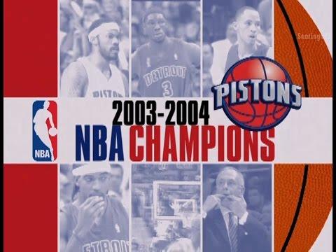 Detroit Pistons - 2003-2004 NBA Champions