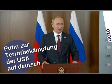 Putin zur US-Terrorbekämpfung auf deutsch