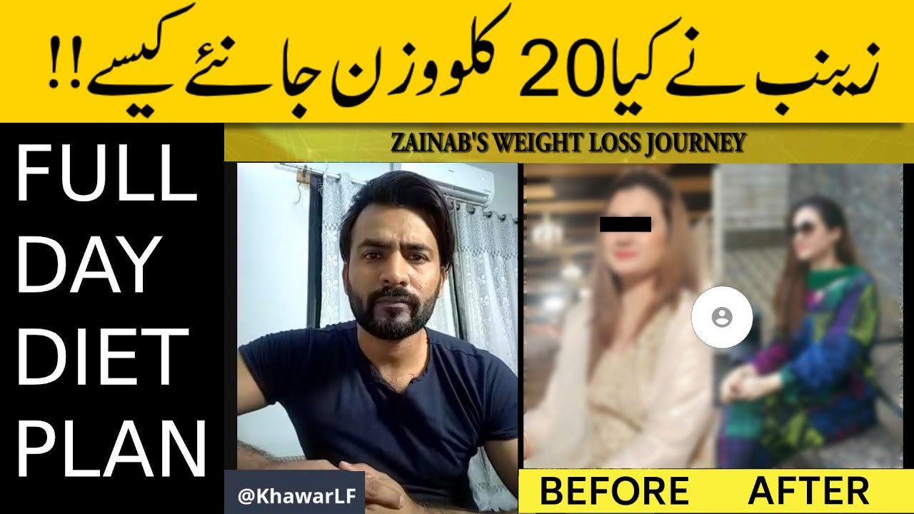 Zainab's Weight Loss Transformation | She Lost 20 kg in 3 Months