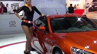 Московский автосалон russian girls 2012 Девушки и автомобили chicks cars