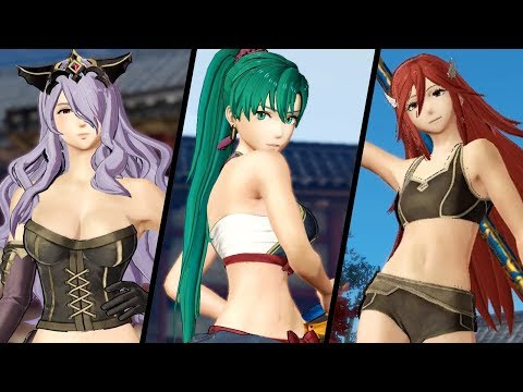Fire Emblem Warriors - All Underwear Animations (Broken Armor)