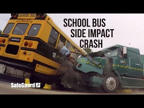 Side Impact School Bus Crash Test - SafeGuard Event