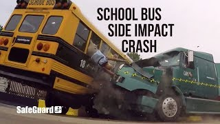 Side Impact School Bus Crash Test - SafeGuard Event