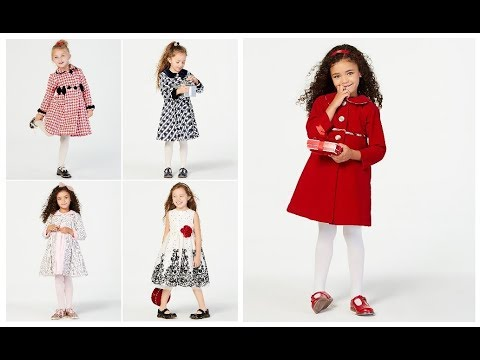 Cute Little Girl Fashion Outfit Trend Ideas 2018,19\u003dKids girls Winter Frock  Dresses