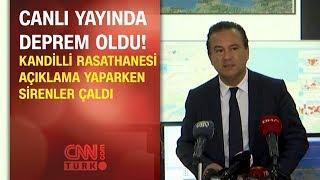 Kandilli Rasathanesi açıklama yaparken sirenler çaldı! Canlı yayında deprem oldu