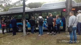 Беспредел в автобусе Алматы из автобуса выгнали всех