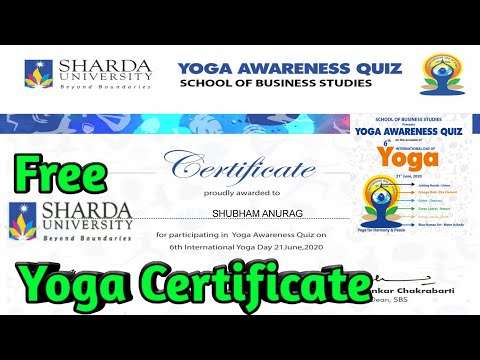 my-life-my-yoga-quiz-competition-|-yoga-quiz-competition-by-sharda-university-|-free-e-certificate