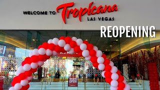 Tropicana Las Vegas Walk Through 🎰WHAT'S OPEN, WHAT'S NOT (Las Vegas Reopening)
