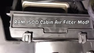 2014 Ram 1500 Cabin Air Filter Mod How To Install Youtube