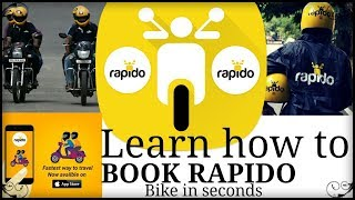 how to book rapido bike | how to book rapido Bike taxi | rapido bike booking |how to book bike tax
